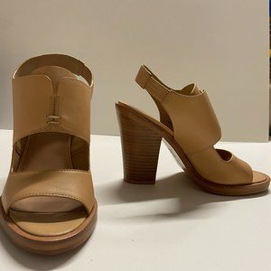 NWOT - DKNY Nude Leather Pumps